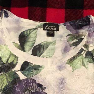 Formal floral blouse